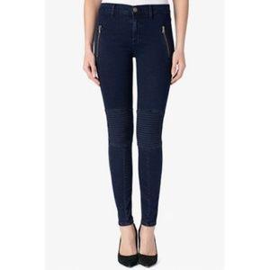 Hudson Jeans 25 Stark Moto Pant Skinny Dark Wash
